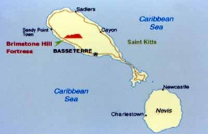 Map of St. Kitts