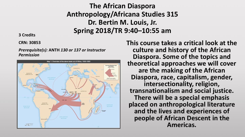African Diaspora ANTH 315