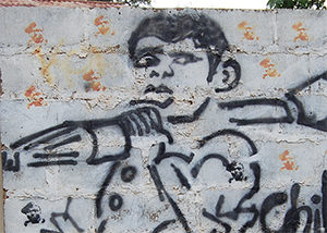 Grafitti on wall in Uganda