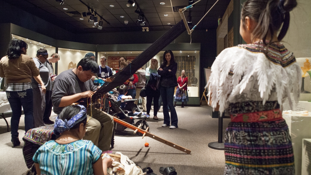 The McClung held the Maya Festival, which included crafts, authentic Guatemalan dancing, food, music, traditional garments and weaving to celebrate the Guatemalan community and the Maya: Lords of Time exhibit.