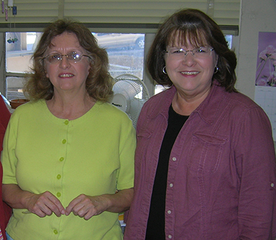 Charlene Weaver and Pam Poe